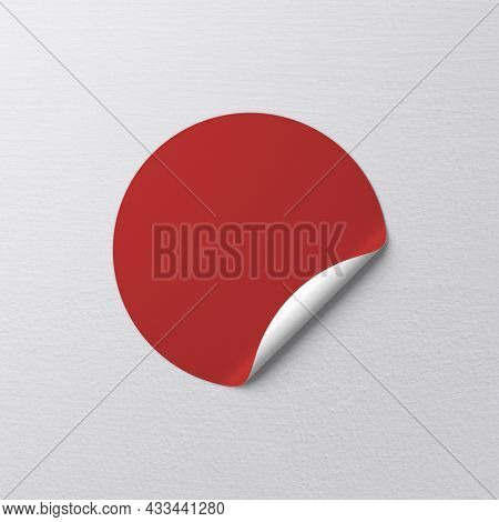 Sticker png mockup with copy space