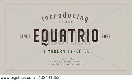 Elegant Alphabet Letters Font And Number. Modern Lettering Minimal Fashion Designs. Typography Moder