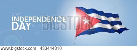 Cuba Happy Independence Day Greeting Card, Banner With Template Text Vector Illustration