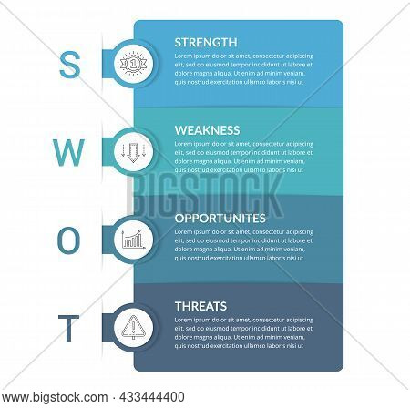 Swot Analysis Diagram, Infographic Template, Vector Eps10 Illustration