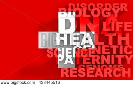 Concept Of Biochemistry With Genome Theme Words List. Flag Of Switzerland