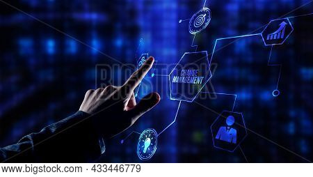Internet, Business, Technology And Network Concept. Change Management, Business Concept.