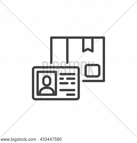 Membership Card Line Icon. Linear Style Sign For Mobile Concept And Web Design. Loyalty Card Outline