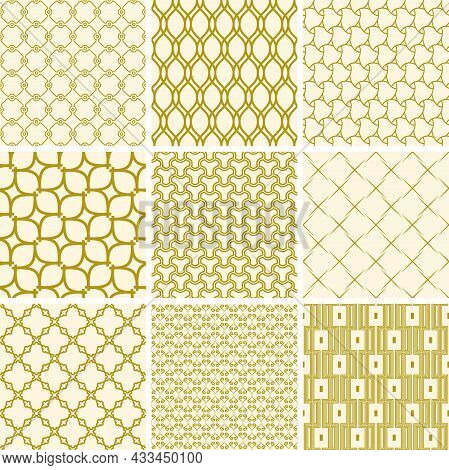 Set Of Vector Seamless Geometric Patterns For Your Designs And Backgrounds. Geometric Abstract Ornam