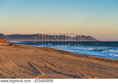 Coastline At Retamar Park, El Toyo. Province Of Almeria. Andalusia, Spain.
