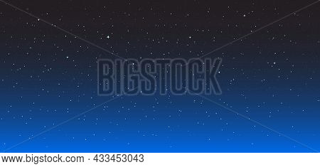 Night Star Background. Starry Sky. Dark-blue Space With Bright Stars. Wallpaper Of Galaxy Or Univers