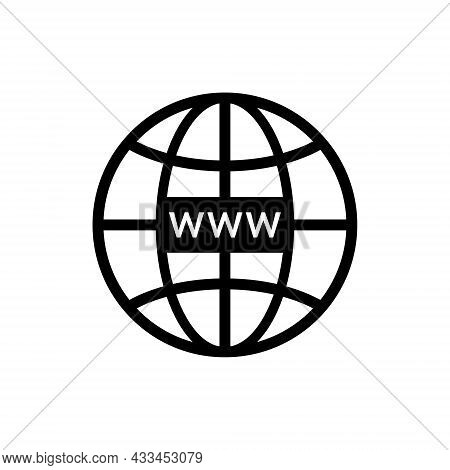 Web Site Icon. Www Symbol For Internet Domain And Url Link. Click To Link In Browser. Online Network