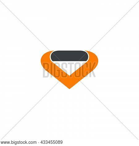 Simple Abstract Geometric Collar Neck Fashion Symbol Logo Vector