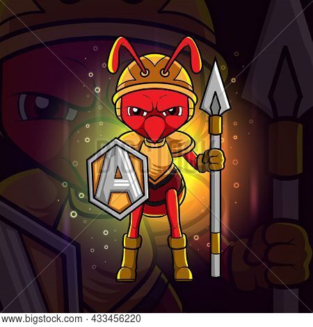 The Guardian Ant Esport Mascot Design Of Illustration