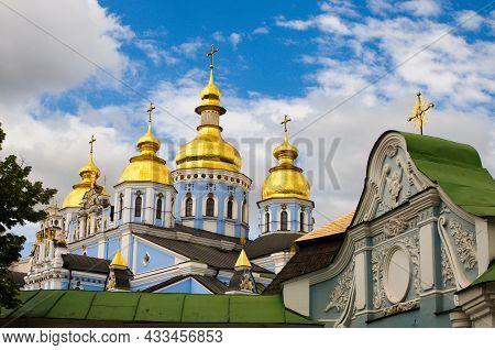 Astonishing Landscape View Of Saint Michael's Golden-domed Monastery (
