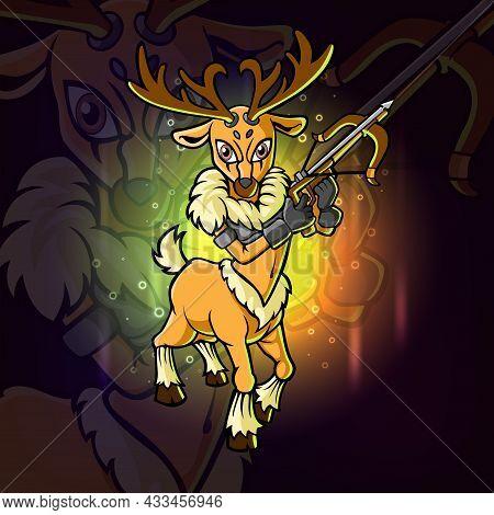 The Archers Dear Esport Mascot Design Of Illustration