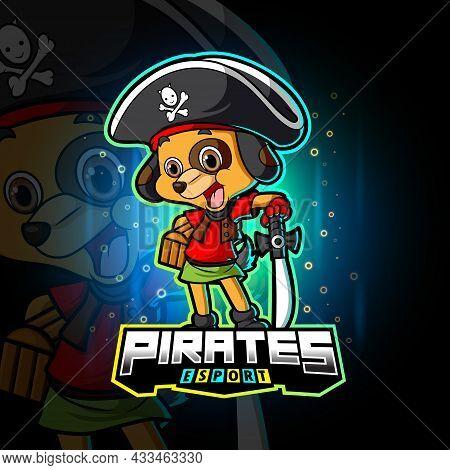 The Pirates Dog Esport Logo Design Of Illustration