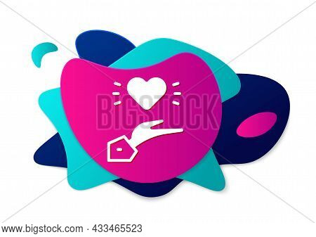 Color Pleasant Relationship Icon Isolated On White Background. Romantic Relationship Or Pleasant Mee