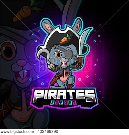 The Pirates Rabbit Esport Mascot Design Of Illustration