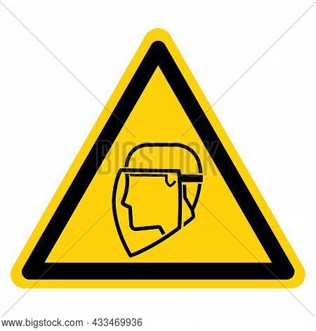 Face Shield Required  Symbol Sign ,vector Illustration, Isolate On White Background Label. Eps10