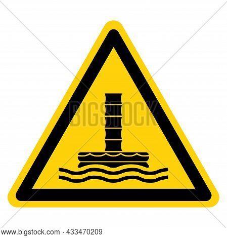 Marine Evacuation Chute Symbol Sign, Vector Illustration, Isolate On White Background Label. Eps10