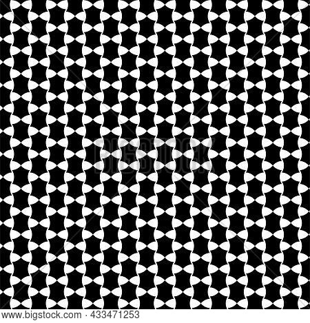 Alternating Black And White Floral Pattern Vector