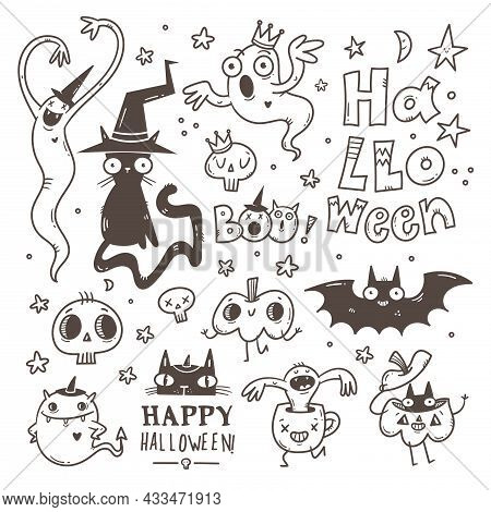 Halloween; Celebration; All Saints Day; Autumn; October; Sticker Pack; Set; Group; Collection; Tatto