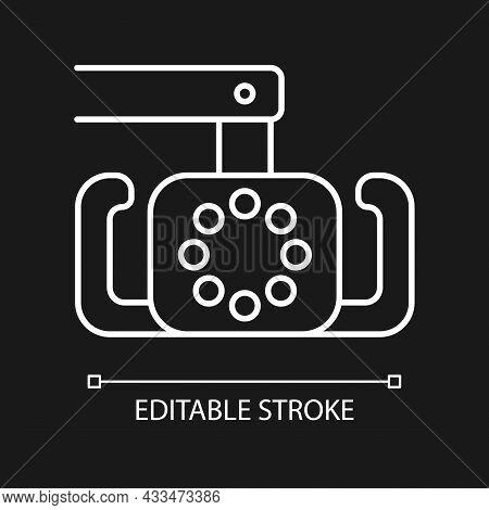 Dental Operatory Light White Linear Icon For Dark Theme. Reducing Dentist Eye Strain. Thin Line Cust
