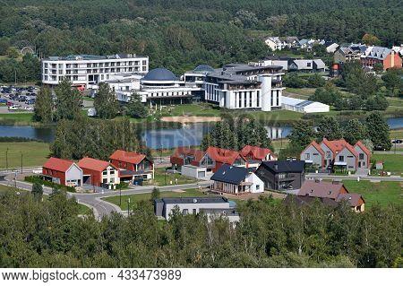 Birstonas, Lithuania - September 11, 2021: Aerial View Of Birstonas Town Resort. Birstonas Is A Baln