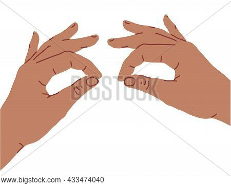 Hands Making Face. Hands Over The Eyes.boo Or Spooky. Flat Design. Cartoon Style Vector Illustration