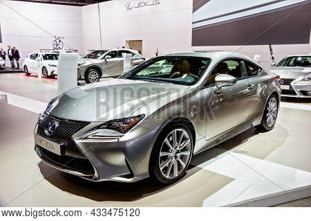 Lexus Rc 300h Car Showcased At The Brussels Expo Autosalon Motor Show. Belgium - January 12, 2016