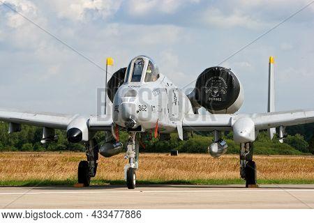 Us Air Force A-10 Thunderbolt Ii Close Air Spport Attack Aircraft At Volkel Air Base. The Netherland