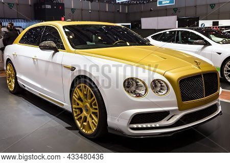 Mansory Bentley Flying Spur Luxury Car Showcased At The Geneva International Motor Show. Switzerland