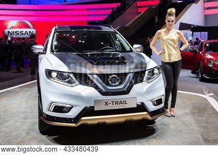 Nissan X-trail Premium Concept Car Showcased At The Geneva International Motor Show. Switzerland - M