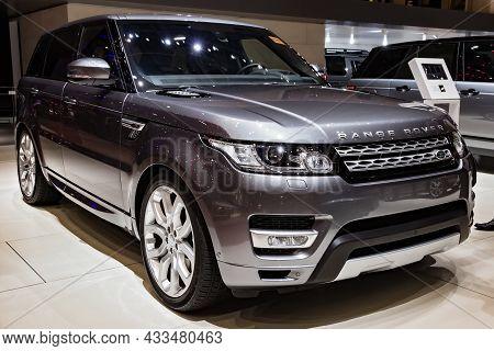 Land Rover Range Rover Hybrid Suv Car Showcased At The Geneva International Motor Show. Switzerland