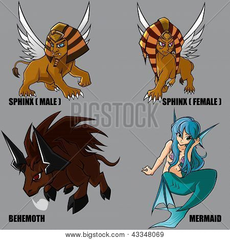 Mythical Creatures Set 11