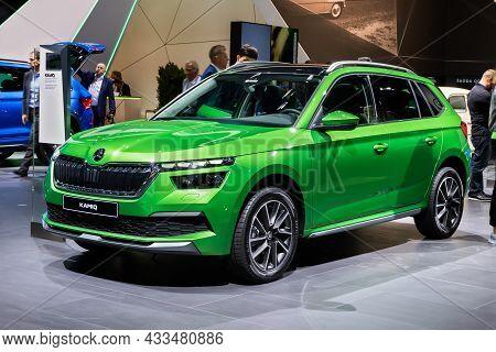 Skoda Kamiq Compact Suv Car Showcased At The Frankfurt Iaa Motor Show. Germany - September 10, 2019