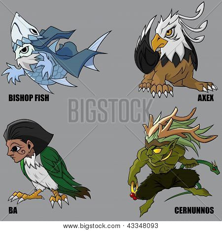 Mythical Creatures Set 19