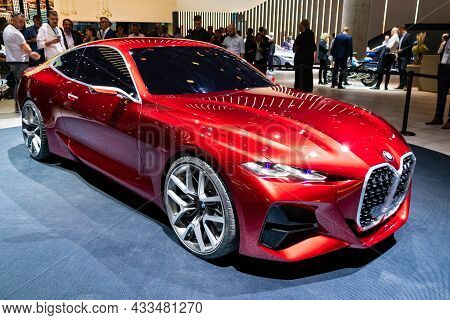 Bmw Concept 4 Coupe Car Showcased At The Frankfurt Iaa Motor Show. Germany - September 10, 2019