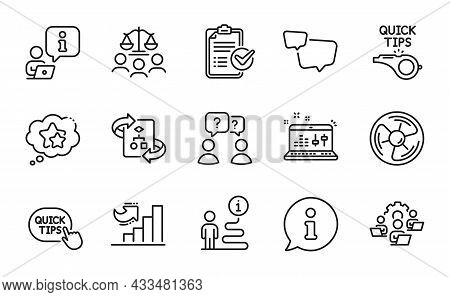 Education Icons Set. Included Icon As Technical Algorithm, Teamwork, Survey Checklist Signs. Growth