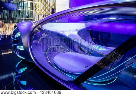 Mercedes-benz Vision Avtr Intuitive Smart Concept Car, Reading Your Mind While Driving, Showcased At