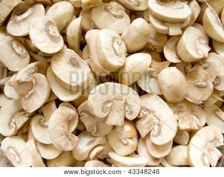 Pile Of Fresh Champignon Mushroom