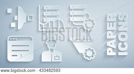 Set Analyst Engineer, Server And Gear, Browser Window, Filter Setting, Server, Data, Web Hosting And