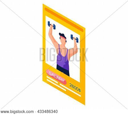 Sports Fitness Trainer Resume, Mobile App Application, Job Search, Staff Selection. Recruitment Agen