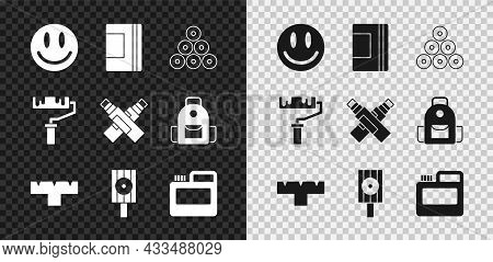 Set Smile Face, Spiral Notebook, Paint Spray Can, Marker Pen Attachment, Spray Nozzle Cap, Paint, Go