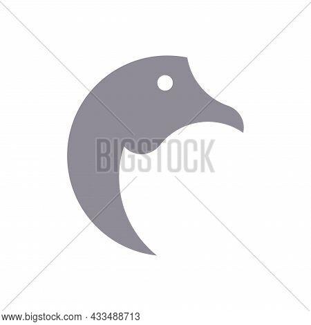 Vector Goose In Golden Ratio Style. Editable Illustration