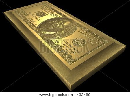 Dollar Printing Plate Of Gold