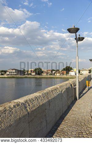 Svilengrad, Bulgaria - July 19, 2020: Sixteenth Century Mustafa Pasha Bridge (old Bridge) Over Marit