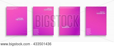 Collection Of Fashion Bright Colorful Digital Contemporary Covers, Templates, Backgrounds, Placards,