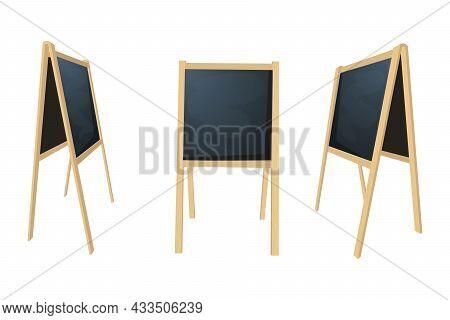 Special Menu Announcement Board. Vector Clean Restaurant Outdoor Blackboard Background. Chalkboard F