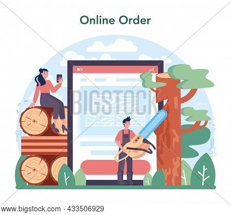 Timber Industry And Wood Production Online Service Or Platform