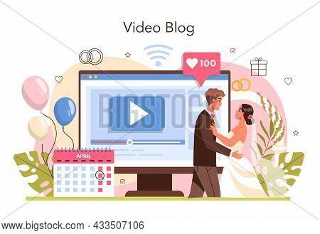 Wedding Planner Online Service Or Platform. Organizer Planning