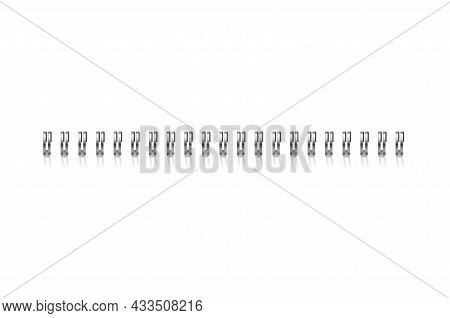 Realistic Detailed 3d Notebook Bind Calendar Spring For Document, Calendar And Sheet Paper Isolated