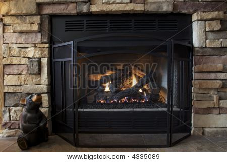 Warm Fireplace