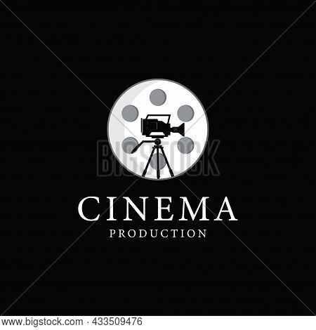 Film Production Logo Design Template, Vector Illustration.
